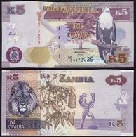 SAMBIA - ZAMBIA 5 Kwacha Banknote 2012 UNC (1)  Pick 50  (14978 - Billetes