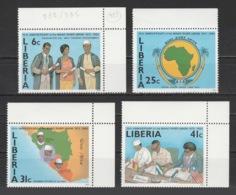 Liberia - 1984 - ( Mano River Union, 10th Anniv. ) - Complete Set - MNH** - Liberia