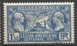 France N° 245  Légion Américaine      Neuf *  TB  = MH  VF   Soldé  à  Moins De 15 ! ! ! - France