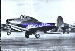 119977 AVIATION AVIACION 57 R.A.F GLOSTER POSTAL POSTCARD - Aviation