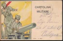 °°° 14521 - CARTOLNA MILITARE , CANNONE - 1916 °°° - Weltkrieg 1914-18
