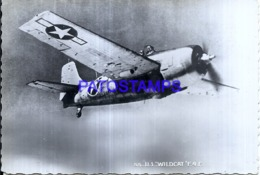 119980 AVIATION AVIACION U.S WILDCAT F.4.F. POSTAL POSTCARD - Flugwesen