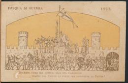 °°° 14522 - PASQUA DI GUERRA - 1918 POSTA MILITARE VERIFICATA PER CENSURA °°° - Ostern