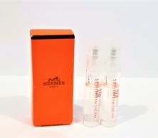 échantillons De Parfum Tubes Sur Cartes EAU DES MERVEILLES   DE HERMES  EDT   Spray Tube 2 Ml X 2 + BOITE - Echantillons (tubes Sur Carte)