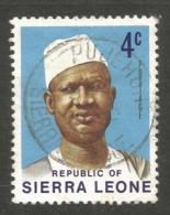 SIERRA LEONE. 4c PUJEHUN POSTMARK. - Sierra Leone (1961-...)