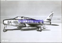 119988 AVIATION AVIACION RF 84 F BA - 109 PHOTO NO POSTAL POSTCARD - Flugwesen