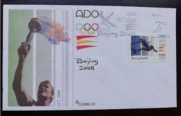 ESPAGNE SPANIEN SPAIN ESPAÑA 2008 OLYMPIC GAMES OF BEIJING JUEGOS OLÍMPICOS FDC ED 4424 YT 4042 MI 4337 SG 4374 SC 3591 - 2001-10 Storia Postale
