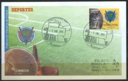 ESPAGNE SPANIEN SPAIN ESPAÑA 2014 BIZKAIA FOOTBALL FEDERATION GUGGENHEIM CANCEL FDC ED 4889 MI 4888 YT 4593 SC 3974 - 1931-Heute: 2. Rep. - ... Juan Carlos I