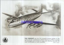 119994 AVIATION AVIACION THE VISCOUNT TRANS - CANADA AIR LINES 17.5 X 12.5 CM PHOTO NO POSTAL POSTCARD - Flugwesen