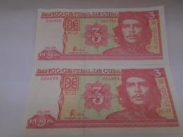 Cuba, 3 Pesos 2006, Ernesto Che Guevara, Consecutive, Crisp, UNC. - Cuba