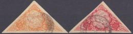 AFGHANISTAN - 1920 Circa -Cinderella, Due Esemplari Triangolari Apparentemente Viaggiati. - Afghanistan