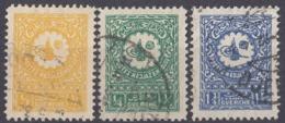 ARABIA SAUDITA - 1931 - Serie Completa Formata Da 3 Valori Usati: Yvert 93A/95. - Arabia Saudita