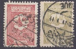 ARABIA SAUDITA - 1926/1927 - Lotto Composto Da 2 Valori Usati: Yvert 71 E 72. - Arabia Saudita