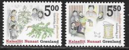 Greenland Scott # 439-40 MNH Christmas, 2004 - Greenland