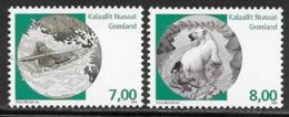 Greenland Scott # 518-9 MNH Mythical Places, 2008 - Greenland