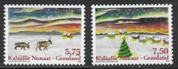 Greenland Scott # 529-30 MNH Christmas, 2008 - Greenland