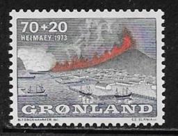 Greenland Scott # B6 MNH Heimaey Volcano, 1973 - Unused Stamps