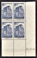 MONACO 1943 BLOC DE 4 TP COIN/DATE N° 261  NEUFS** - Monaco