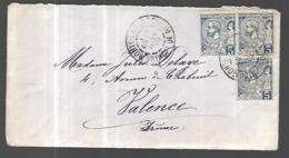 Monaco Lettre Du 04 11 1899 Pour Valence '(  France) Affranchissement 15 C - Covers & Documents