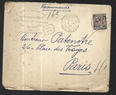 Monaco Lettre En Recommandé Du 31 12 1901  Pour  Paris  Affranchissement 40 C - Covers & Documents