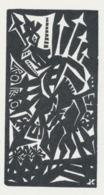 Ex Libris Kleingrafiek Don Quichote - Helga Lange (houtsnede) - Exlibris
