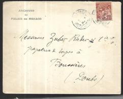Monaco Lettre Des Archives Du 04 12 1904  Pour  Boussières Dans Le Doubs     Affranchissement  10 C - France