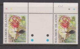 Solomon Islands 1999 China 99 Gutter Pair - Solomon Islands (1978-...)
