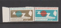 Solomon Islands SG 127-128 1965 ITU Centenary,mint Never Hinged - Solomon Islands (1978-...)