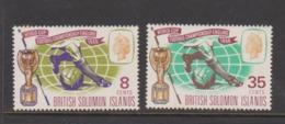Solomon Islands SG 153-154 1966 World Cup Football Championship,mint Never Hinged - Solomon Islands (1978-...)