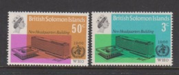 Solomon Islands SG 155-156  1966 Inauguration Of WHO Headquarters,mint Never  Hinged - Solomon Islands (1978-...)