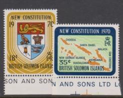 Solomon Islands SG 195-196 1970 New Constitution ,mint Never  Hinged - Solomon Islands (1978-...)