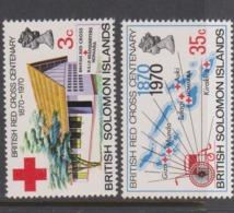 Solomon Islands SG 197-198 1970 Centenary Of British Red Cross ,mint Never  Hinged - Solomon Islands (1978-...)