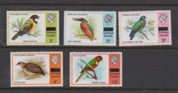 Solomon Islands SG 285-290 1975 Birds 5 Values  ,mint Never  Hinged - Solomon Islands (1978-...)