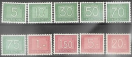 Luxembourg   1946-8   10 Diff MH/MNG  2016 Scott Value $5.25 - Impuestos