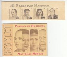 INDONESIA 1999 Indonesian National Heroes, Set Of 4v + Booklet, MNH** - Indonesien