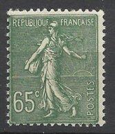 France N° 234 Semeuse Lignée  65c Vert    Neuf   * *  TB  = MNN H VF Soldé  à Moins De 15  %  ! ! ! - Francia