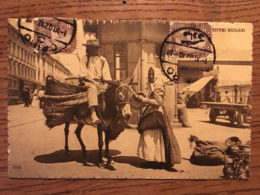 CPA, COSTUMI SICILIANI, COSTUMES SICILIENS, Folklore, éd DATI, MESSINA, écrite En 1907 - Italië