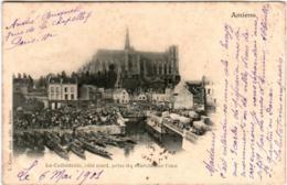 6ET 816 CPA - AMIENS - LA CATHEDRALE PRISE DU MARCHE L'EAU - Amiens
