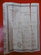 PASSEPORT A L INTERIEUR DE NIMES A PARIS A RAMOND ULYSSE 1845 CACHET - Historical Documents