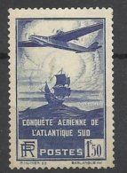 France N° 320    Conquête Aérienne De L'Atlantique Sud  Neuf   * *  TB  = MNN H VF Soldé  à Moins De 15  %  ! ! ! - Nuovi