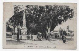GRASSE EN 1925 - N° 80  LA FONTAINE DU COURS AVEC PERSONNAGES - CPA VOYAGEE - Grasse