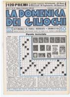 LA DOMENICA DEI GIUOCHI  - PAROLE INCROCIATE  - NUOVA - 9 NOVEMBRE 1941 - Giochi