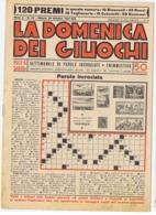LA DOMENICA DEI GIUOCHI - PAROLE INCROCIATE - NUOVA - 26 OTTOBRE 1941 - Giochi