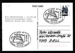 KIEL 41 24149 MS >>Deutschland<< Jungfernfahrt Briefmarken-Werbeschau 16.5.1998 - Unclassified