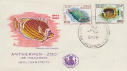Enveloppe  FDC   1er  Jour   BELGIQUE    Poissons   1968 - Vissen