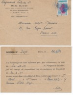 Carte Postale Société Assurance 1962 Avec Accident Oblitération Sur 0,20 C Semeuse ROTY (bord De Feuille) - Curiosidades: 1960-69 Cartas