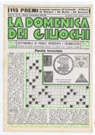 LA DOMENICA DEI GIUOCHI - PAROLE INCROCIATE - NUOVA - 2 NOVEMBRE 1941 - Giochi