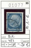 Deutsches Reich - Deutschland - Allemagne - Michel 483 - Oo Oblit. Used Gebruikt - Deutschland