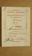 Gemeente BORGERHOUT Jongensgemeenteschool Nr. 2 - 1 Prijs Moedertaal > Leemans ( 1925 ) Zie Foto's ! - Diploma & School Reports