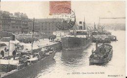 Carte Postale Ancienne De Rouen Le Quai Cavalier De La Salle - Rouen
